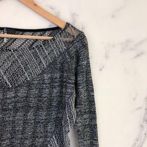 Sparkle & Fade Sweaters - {3/$25} Sparkle & Fade Mesh Knit Crop Sweater